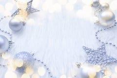 Fond du ` s de nouvelle année avec des décorations de nouvelle année Image libre de droits