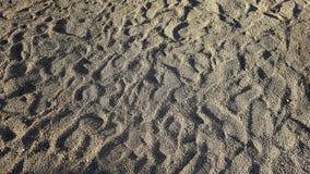Fond du sable brut sur le bord de la mer couvert de traces photo libre de droits
