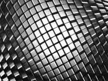 Fond dynamique en aluminium abstrait de cube illustration stock