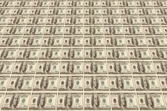 Fond effectué à partir des billets de banque du dollar Photo libre de droits
