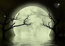 Fond effrayant d'imagination de lune Image stock