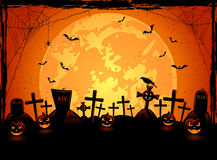 Fond effrayant de Halloween Photographie stock