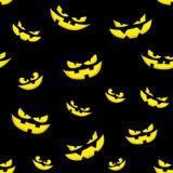 Fond effrayant de visage de conception de Halloween de potirons sans couture d'éléments illustration de vecteur