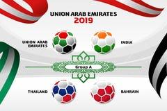Fond Emirats Arabes Unis de couleur d'illustration de vecteur photo libre de droits