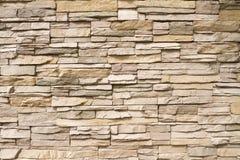 Fond empilé de mur en pierre horizontal Photo libre de droits