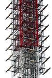 Fond en acier abstrait de tour Images libres de droits
