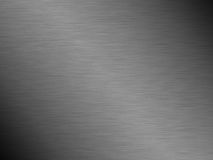 Fond en acier balayé de texture en métal photos stock