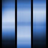 Fond en acier bleu Photo libre de droits