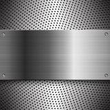 Fond en acier d'abrégé sur en métal Images stock