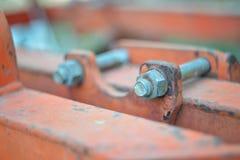 Fond en acier de boulon de fixation en métal Images stock