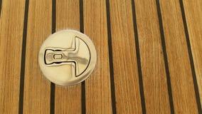 Fond en acier de decking de montage et de teck de plate-forme de Stainlass Images libres de droits