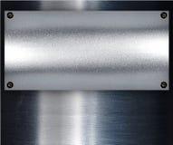 Fond en acier de plaque métallique. Images libres de droits