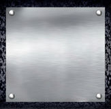 Fond en acier de plaque métallique. Photo libre de droits