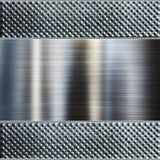 Fond en acier de plaque métallique. image libre de droits