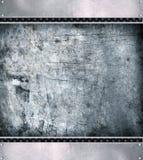 Fond en acier de plaque métallique. Photographie stock