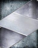 Fond en acier de plaque métallique. Photos libres de droits