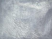 Fond en acier de plaque métallique usé Clinquant argenté Photographie stock