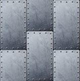 Fond en acier de texture en métal pour la conception photos stock