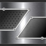 Fond en acier en métal Images libres de droits
