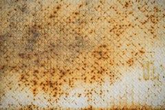 Fond en acier rouillé de texture Photos libres de droits