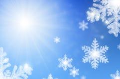 Fond en baisse de flocons de neige Photos libres de droits