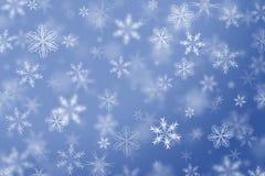 Fond en baisse de l'hiver de flocons de neige. Image stock