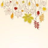 Fond en baisse de lames d'automne illustration de vecteur