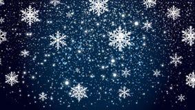 Fond en baisse de neige d'hiver photo stock