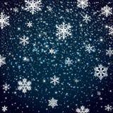 Fond en baisse de neige d'hiver image libre de droits