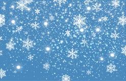 Fond en baisse de neige d'hiver photos stock