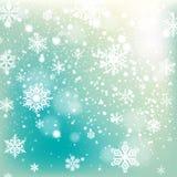 Fond en baisse de neige d'hiver photographie stock libre de droits