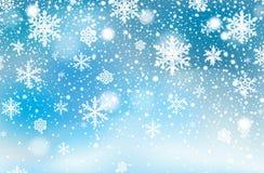 Fond en baisse de neige d'hiver images libres de droits