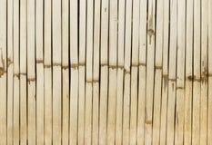 Fond en bambou blanc de texture de barrière Photos stock