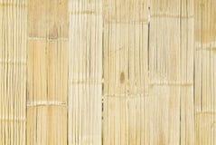 Fond en bambou blanc de texture de barrière Photographie stock libre de droits
