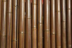 Fond en bambou de barrière Photographie stock libre de droits