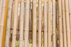 Fond en bambou de barrière Images libres de droits