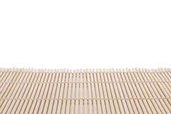 Fond en bambou de couvre-tapis Photo libre de droits
