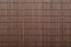 Fond en bambou de couvre-tapis Photos stock