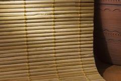 Fond en bambou de serviette Image libre de droits