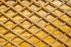 Fond en bambou de texture de trellis image stock