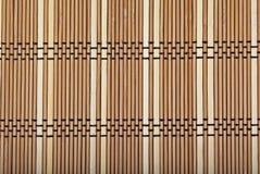 Fond en bambou en bois de couvre-tapis Images libres de droits