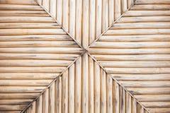 Fond en bambou jaune grunge et texture Image libre de droits