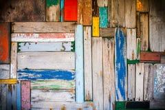 Fond en bois abstrait de mur avec le dégradé Image libre de droits