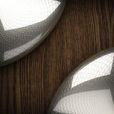 Fond en bois avec l'élément en métal Images stock