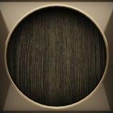 Fond en bois avec l'élément en métal Image libre de droits