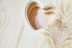 Fond en bois avec l'endroit pour le texte Carte pour le jour des amants image libre de droits