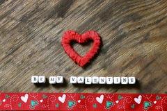 Fond en bois avec la forme de coeur Image stock