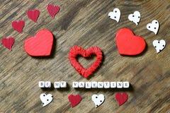 Fond en bois avec la forme de coeur Photo stock