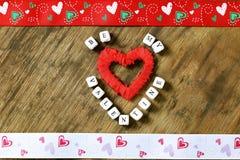 Fond en bois avec la forme de coeur Photographie stock