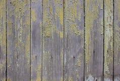 Fond en bois avec la peinture d'épluchage Image libre de droits